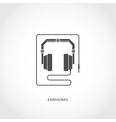 Musical instrument earphones flat icon vector image