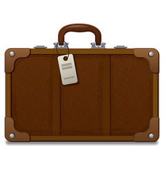 old vintage style suitcase vector image