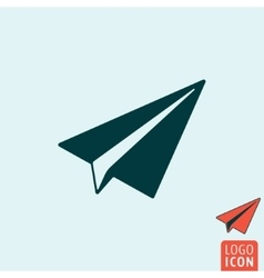 Paper plane icon isolated vector image