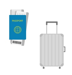Passport air boarding pass ticket with barcode vector image