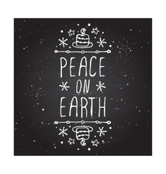 Peace on earth - typographic element vector