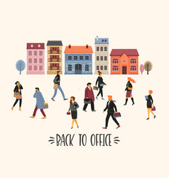 people going to work vector image