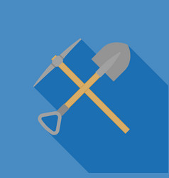 Pick axe and shovel vector