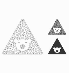 Pig error mesh network model and triangle vector