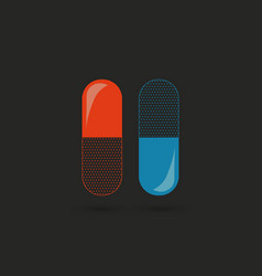 pills capsules and drugs set vector image