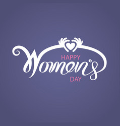 pink happy international womens day typographical vector image