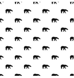 Polar bear pattern seamless vector