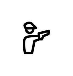 policeman cop icon vector image