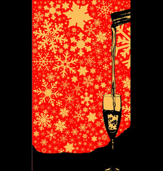 pouring christmas wine vector image