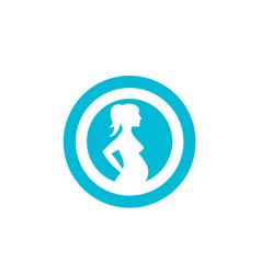pregnant template icon vector image