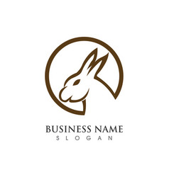 Rabbit logo template vector