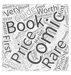 Rare and First Printing Comic Books Word Cloud vector image