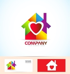 Real estate house family logo vector image
