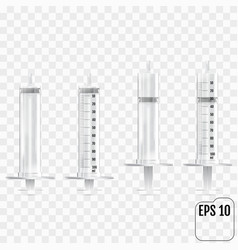 realistic syringe isolated on transparent vector image