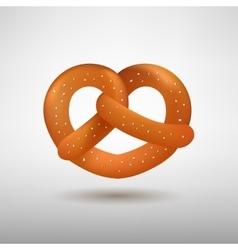 Realistic tasty pretzel vector