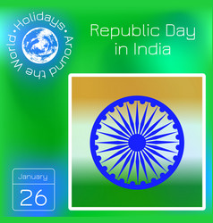 republic day in india symbols of indian flag vector image