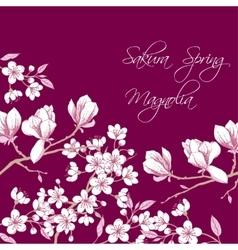 Sakura and Magnolia vector