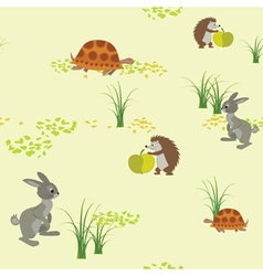 seamless texture with animals vector image