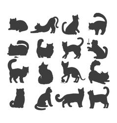 Set cats flat design vector