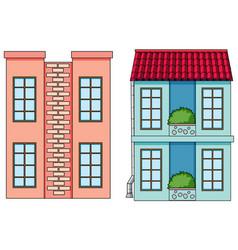 set flat building vector image