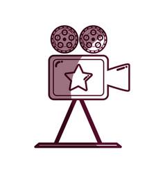 Silhouette short film video camera studio vector