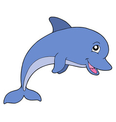 Smiling dolphine vector