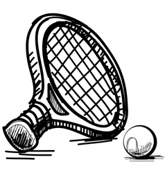 Tennis equipment vector image