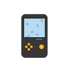 Tetris puzzle videogame vector image