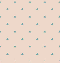 Tile pattern with mint green triangles on pastel vector