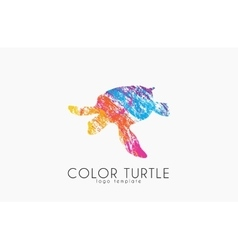 Turtle logo design color creative logo vector