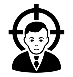 Victim Businessman Flat Icon vector