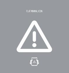 warning symbol - flat minimal icon vector image