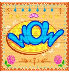 Wow Background vector image