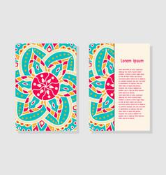 card templates with mandala vector image