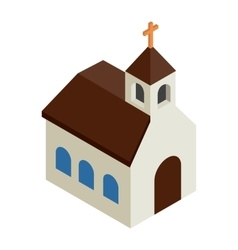 Catholic church isometric 3d icon vector image vector image