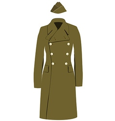 Coat and forage cap vector image vector image