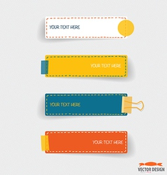 Cute note papers Business working elements for web vector image