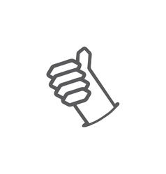Like buttonthumb up hand symbol vector