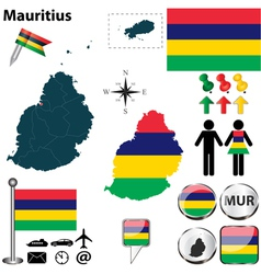 Mauritius map vector image vector image