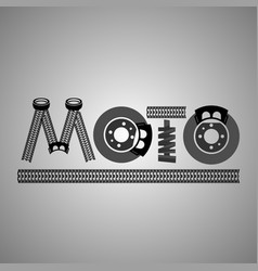 moto lettering image vector image