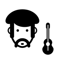 Musician sign vector image vector image