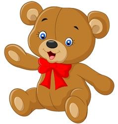 Teddy bear A of a cute cartoon vector image vector image