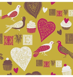 vintage love print vector image vector image