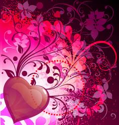 wild heart vector image vector image