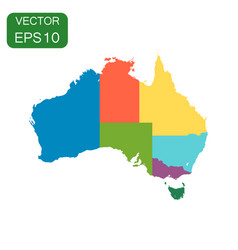 australia color map with regions icon business vector image vector image