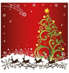 Christmas xmas reindeer vector image vector image