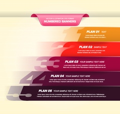 Colorful Numbered Banners vector image vector image