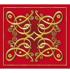decorative oriental element vector image vector image