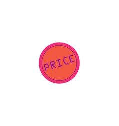 Price Icon vector image vector image