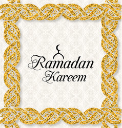 ramadan kareem greeting card islamic style vector image